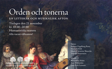 Swedish Literary Society - A Literary and Musical Event
